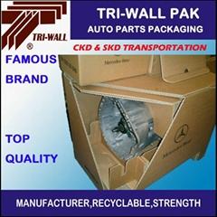 纸箱定做 汽车零部件包装箱 SKD CKD 包装箱 大型设备包装箱