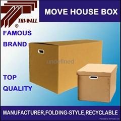 高強度 帶扣手 搬家收納紙箱