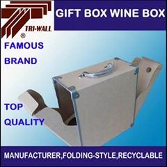 高硬度紙板禮品紅酒包裝盒