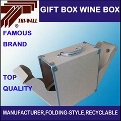 CUSTOMIZED CARDBOARD  PACKAGING  BOX  WINE BOX