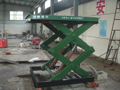 Freight elevator stationary scissor lifting machine