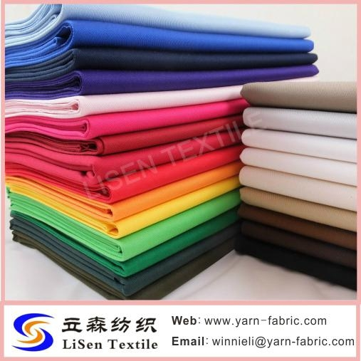 80% Polyester 20% Cotton chef clothing fabric stock lot