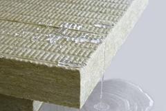 Exterior wall rock wool board