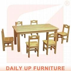 Wooden Preschool Desk Kindergarten