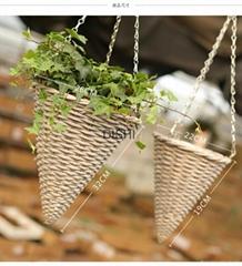 Decorative hanging basket Willow basket rattan basket