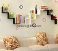Storage Holders Racks,Wedding room Bathroom Shelves W wood wall shelf racks deco 2