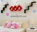 Storage Holders Racks,Wedding room Bathroom Shelves W wood wall shelf racks deco 4