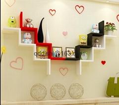 Storage Holders Racks,Wedding room Bathroom Shelves W wood wall shelf racks deco