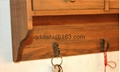 Zakka Wall Shelf keys Hanger storage box