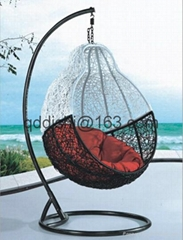living gazebo rattan hanging swing chair with UV-RESISTANT