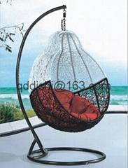 living gazebo rattan hanging swing chair with UV-RESISTANT