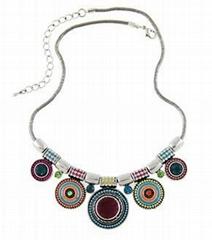2015 latest and newest fashion Ethnic vintage boho jewelry set of necklace and e
