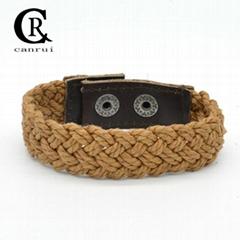 CR1011 Cotton String Twisted Bohemian Fashion Style Bracelet
