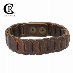 CR1024 Retro Genuine Leather Bracelet Fashion Linked Accessory Women Bracelet