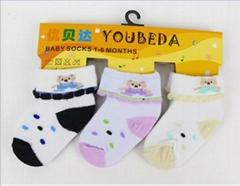 Baby boys cotton socks with cartoon