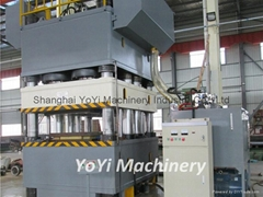 Steel door embossing press