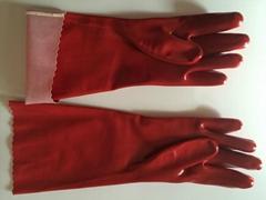 pvc  gloves interlock liner oil resistance