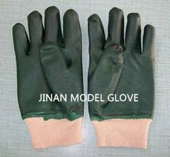 pvc glove double dipped for protection hands