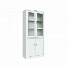 glass swing door steel filing cabinet and vault/2 drawer lockable metal steel fi