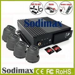 4CH SD card Mobile DVR 3G GPS Wifi G-sensor