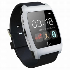 Uwatch UX heart rate monitorring smart watch support NFC GEP silicon strap