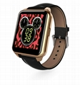 F2 IP67 waterproof heart rate monitorring android watch Leather Wristband watch 1