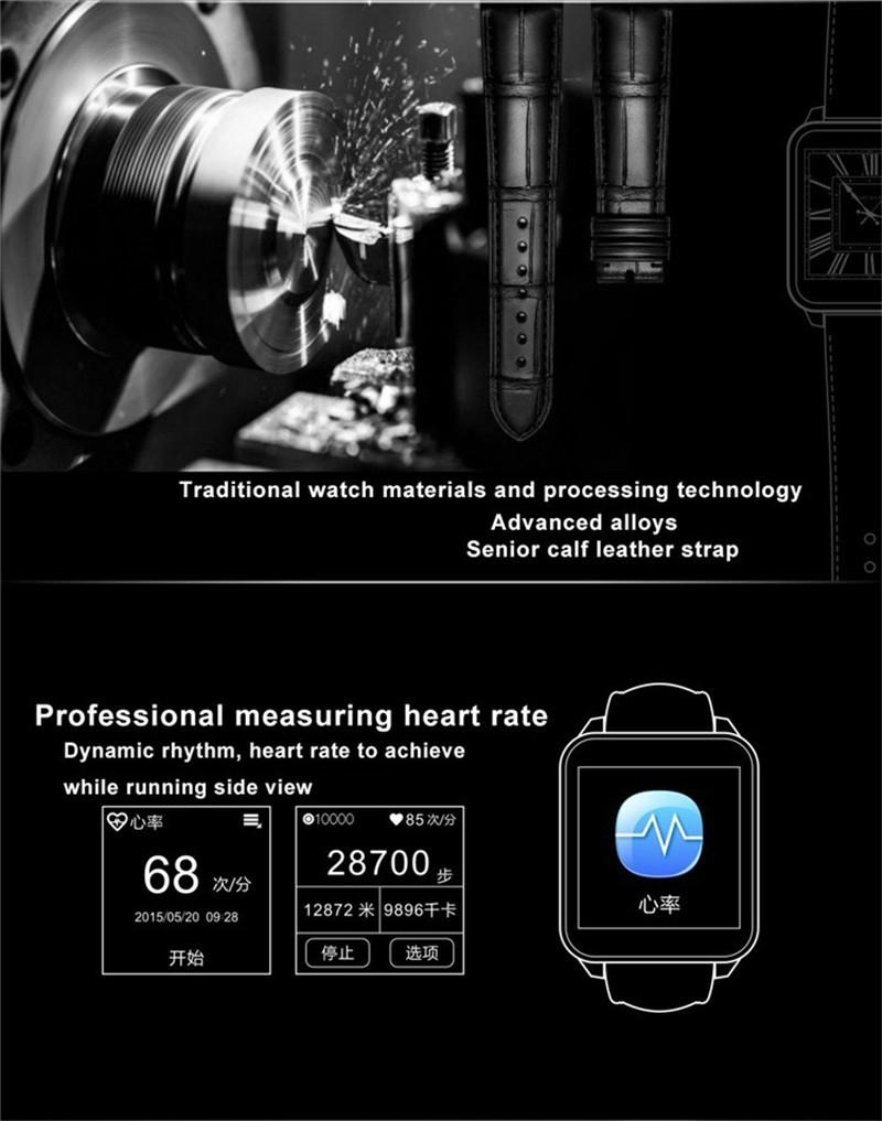 F2 IP67 waterproof heart rate monitorring android watch Leather Wristband watch 12