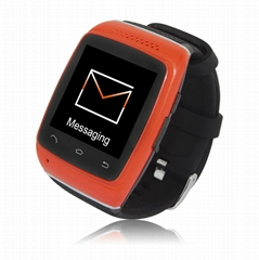 bluetooth smartwatch for sports with earphone holes to play mp3 women watches