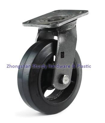 鑄鐵橡膠萬向腳輪 3