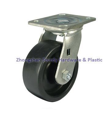 鑄鐵橡膠萬向腳輪 4