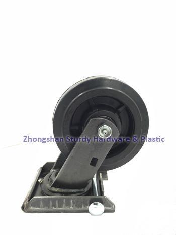鑄鐵橡膠萬向腳輪 5