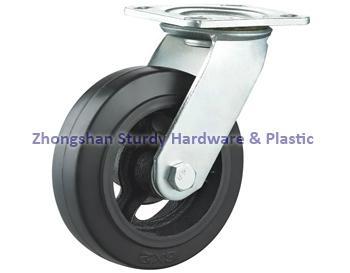 鑄鐵橡膠萬向腳輪 1
