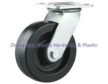 重型轉向輪萬向輪鑄鐵PU 鑄鐵橡膠 輪 2