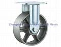 重型轉向輪萬向輪鑄鐵PU 鑄鐵橡膠 輪 4