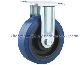 重型轉向輪萬向輪鑄鐵PU 鑄鐵橡膠 輪 5