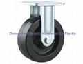 重型轉向輪萬向輪鑄鐵PU 鑄鐵橡膠 輪 3