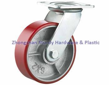重型轉向輪萬向輪鑄鐵PU 鑄鐵橡膠 輪 1