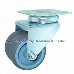 Sturdy Hardware Dual Wheel Casters