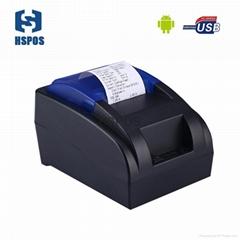 High quality 58mm thermal receipt printer usb and bluetooth2.0 port mini printer