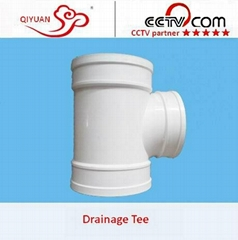 PVC-U Drainage Exhaust Lager Diameter Pipe Fittings Equal Tee