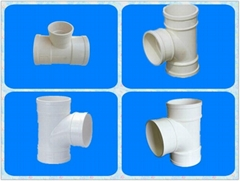 2015 PVC-U Drainage Exhaust Lager Diameter Pipe Fittings Equal Tee