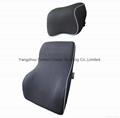 Premium Memory Foam Car Lumbar Cushion & Car Neck Pillow Kit 1