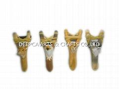 2015 hot sale wooden hunting slingshot