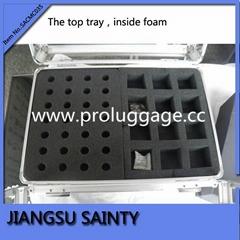 Acrylic and croco pvc nail polish carry case