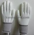 13 Guage white nylon liner with white pu