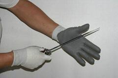 white nylon liner with grey pu working glove