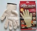 cotton oven gloves& heat resistant