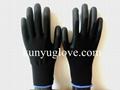 13 Guage black nylon liner with black pu