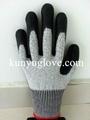 5 level cut resistant glove,dyneema