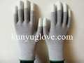13 Guage carbon yarn knitting glove with